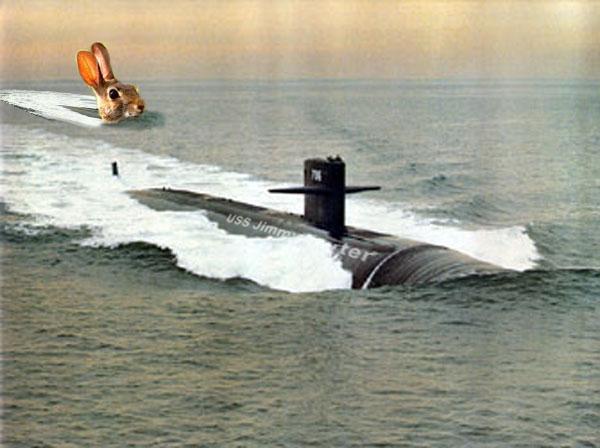 Conejo y submarino