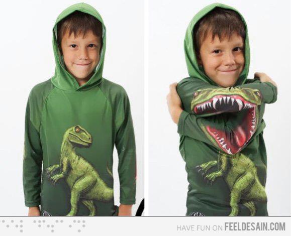 Sudadera original con dinosaorio