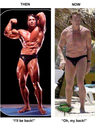 Arnold Schwarzenegger, antes y después