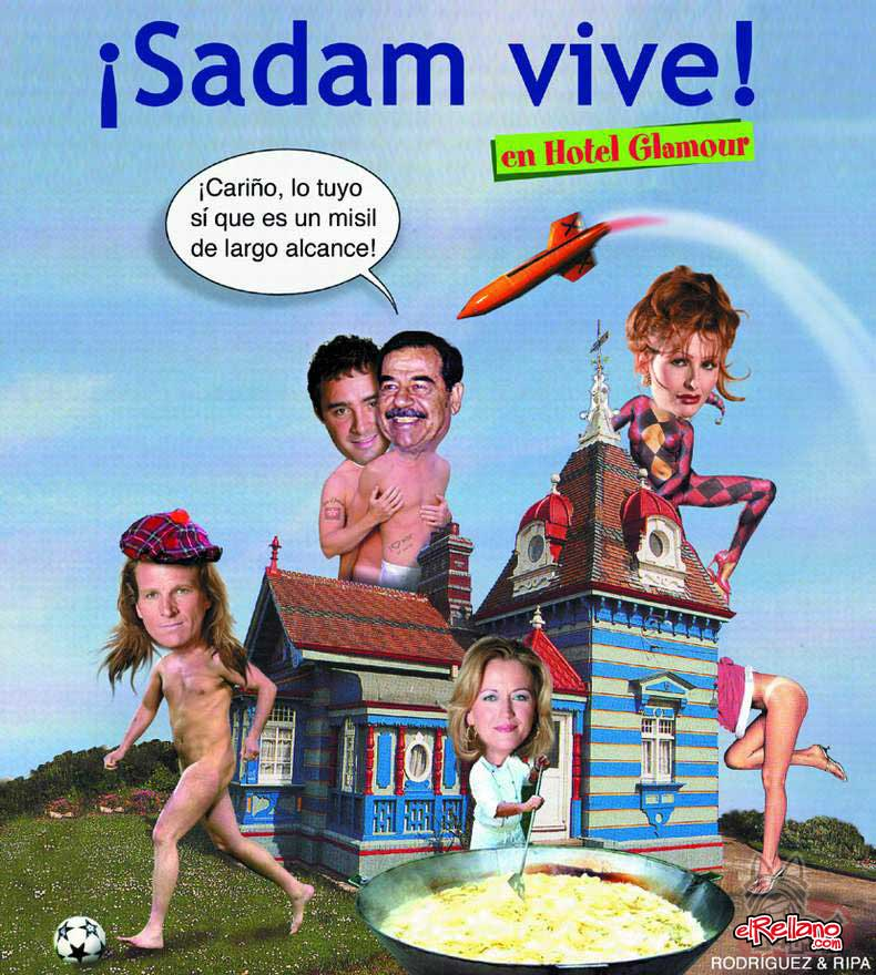 Sadam vive en Hotel Glamour