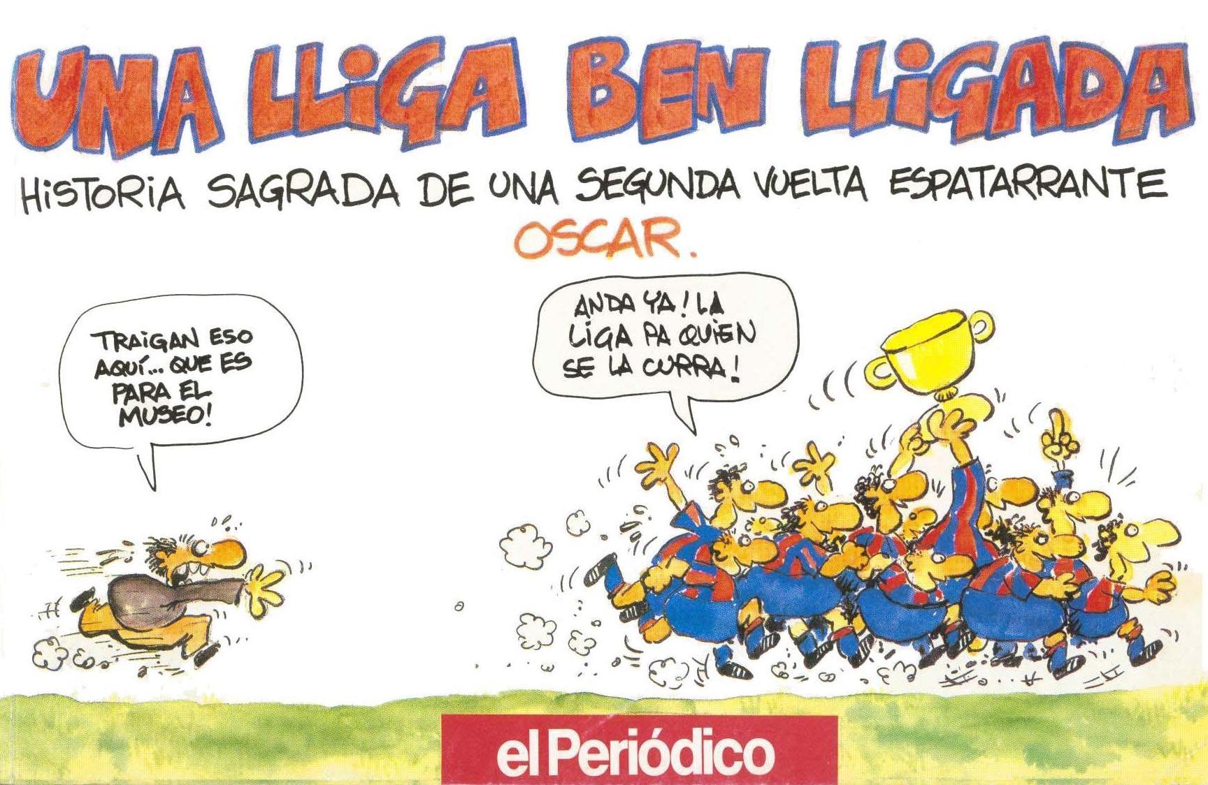 Tiras de prensa - Barcelona - Liga 90-91 2a vuelta