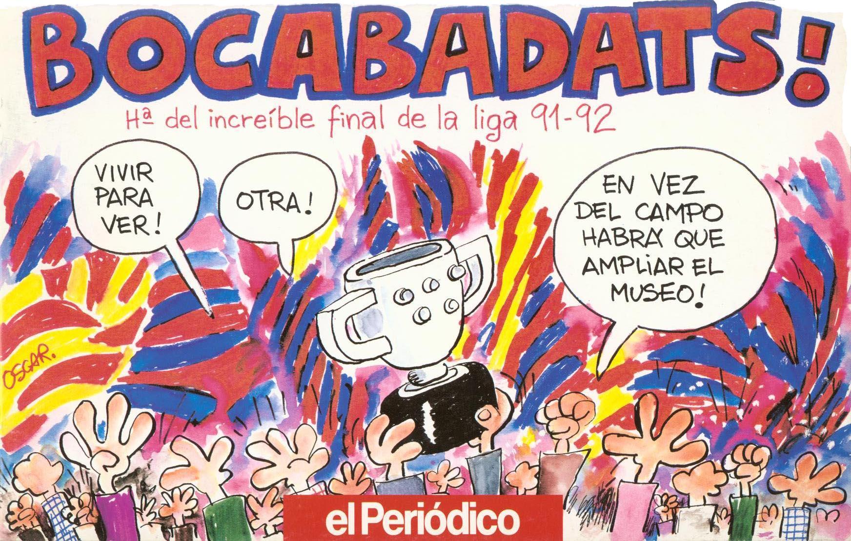 Tiras de prensa - Barcelona - Liga 91-92 2a vuelta