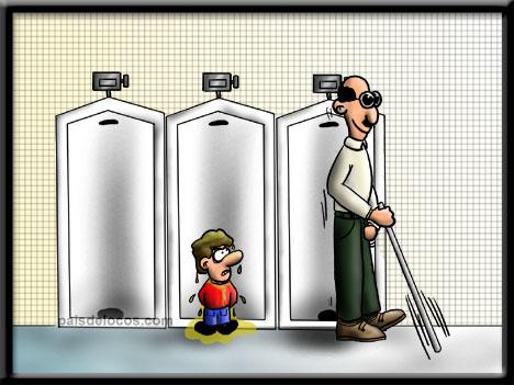 En el lavabo publico