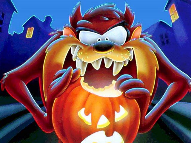 El monstruo de Tasmania en Halloween