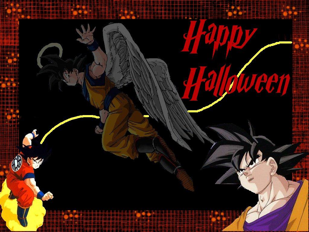 Gokou says happy halloween