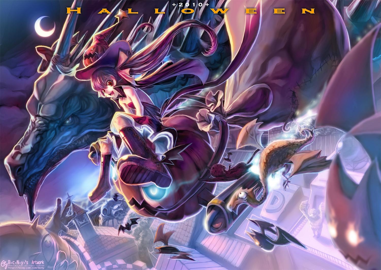 halloween dragon witch DesktopNexus