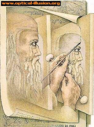 What is Da Vinci painting?