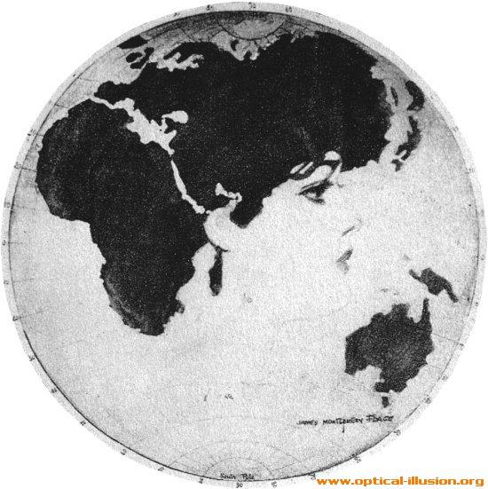 Earth's face.