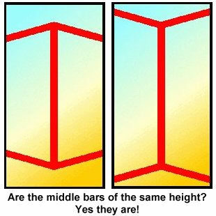Which vertical lines is longer? Or they equal in length?