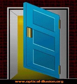 Impossible door.