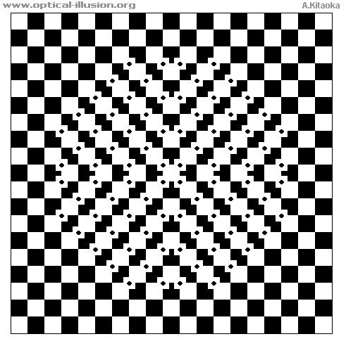 Circle is formed in the middle. (The image is Copyright A. Kitaoka)