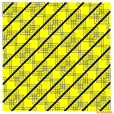 There are no curves in the diagonal lines. (The image is Copyright A. Kitaoka)