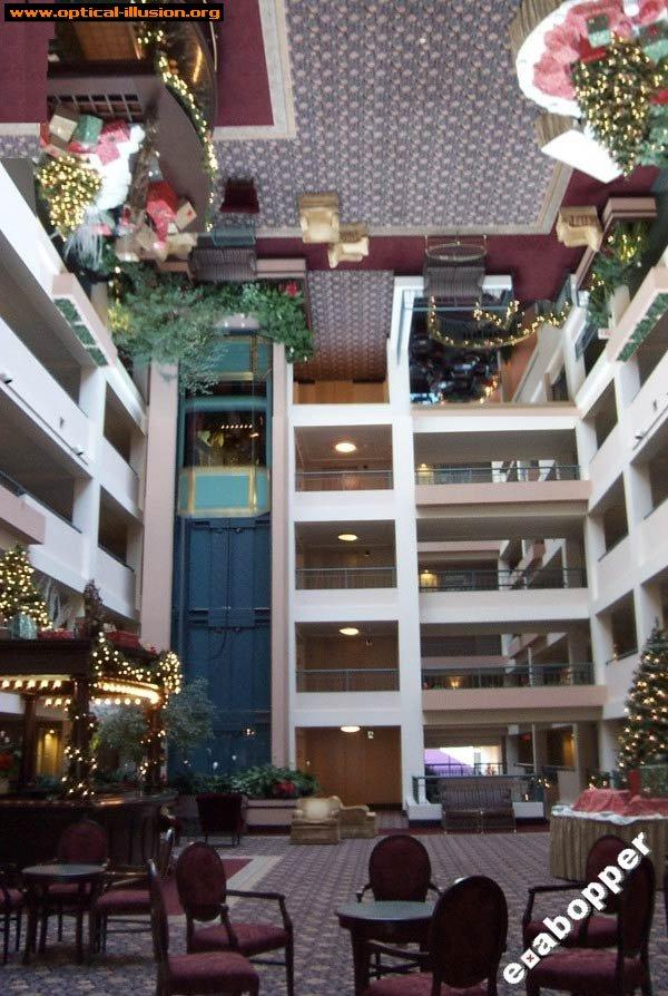 Upside-down lobby.