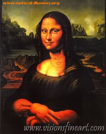 Mona Lisa and the cat
