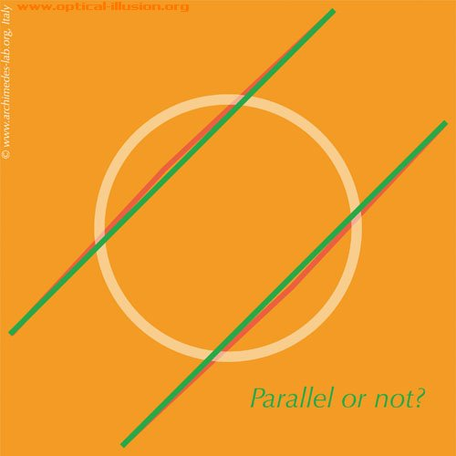 Parallel or not? (The image is Copyright Archimedes-Lab)