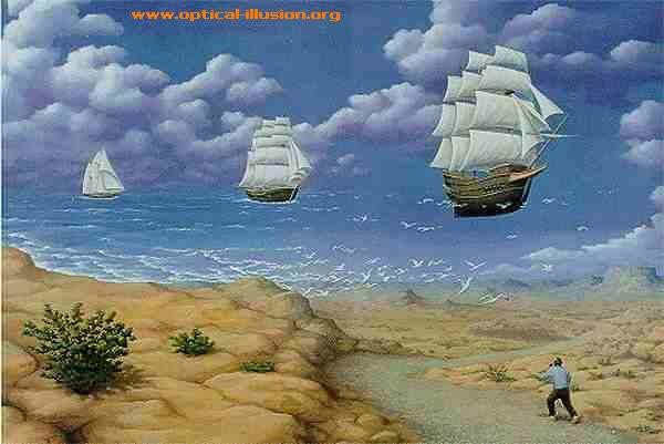 Flying and sailing ships.