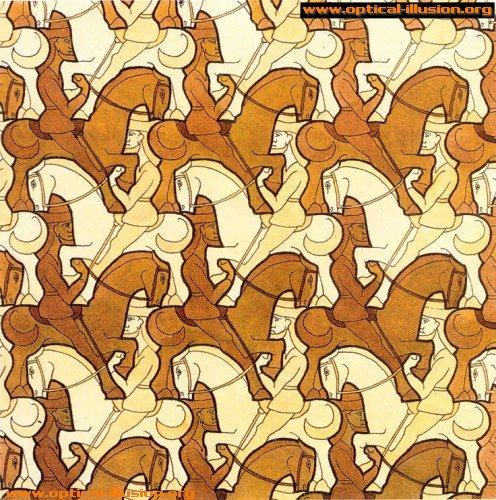 Are the horseman white or orange?