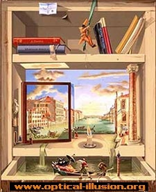 The bookshelf.