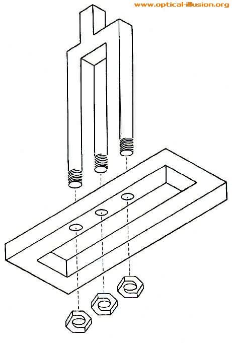 Where do the prongs go through?