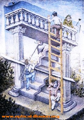 Where is the ladder leading?
