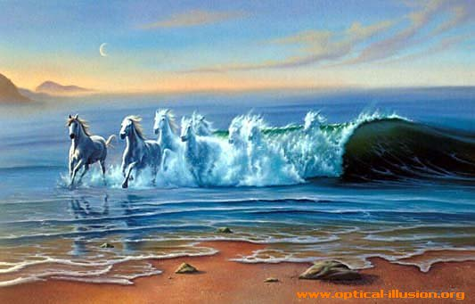 Waves and horses.