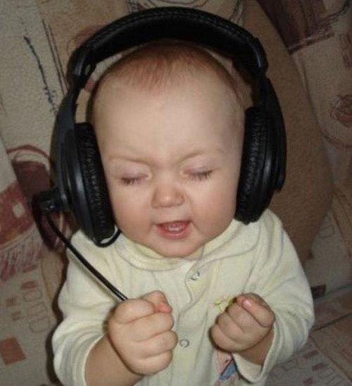 Disfrutando de la musica