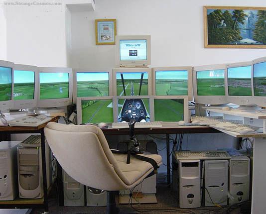 Simulador de vuelo casero