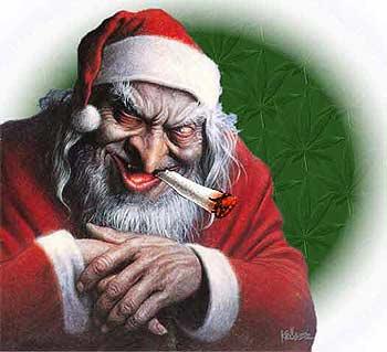 Papa Noel fumeta