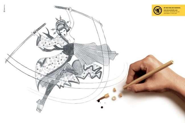 Accidente dibujando
