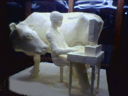 Vaca y computadora