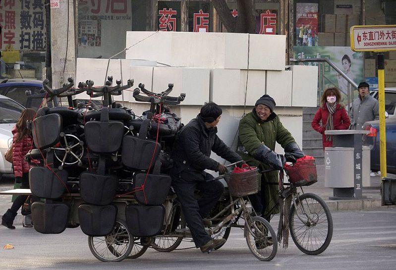 Con bicicleta