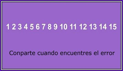 Error matematico