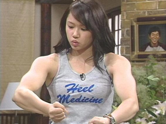 Chica musculosa