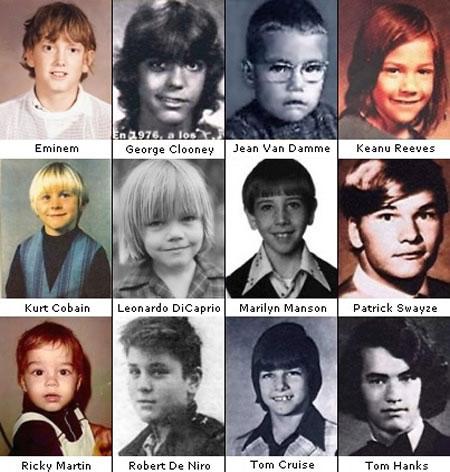 Asi eran los famosos