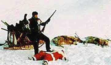 Papa Noel cazado