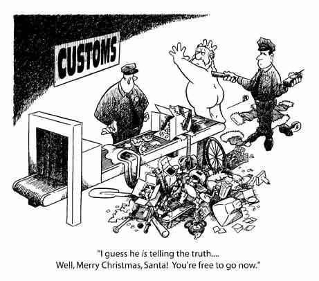 Papa Noel en la aduana