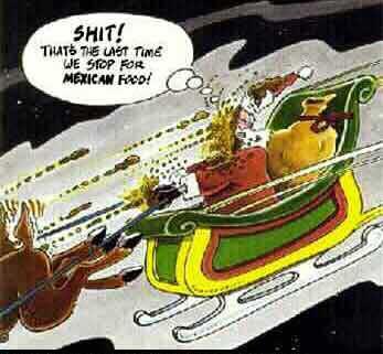 Papa Noel y la comida mexicana