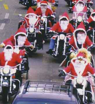 papa Noel a la carrera