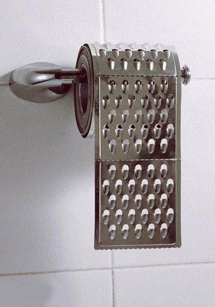 Papel higienico rasposo
