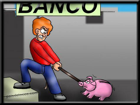 El banco y la hucha