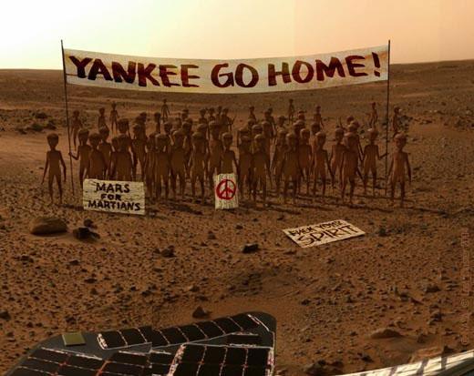 Manifestacion de marcianos