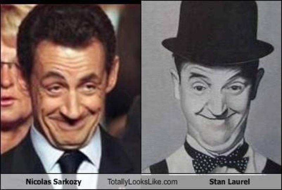 Nicolas Sarkozy-Stan Laurel - Parecidos mas que razonables