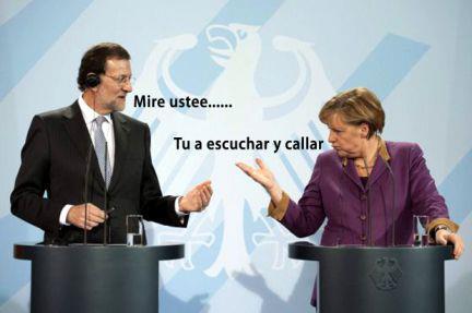 Merkel y Mariano